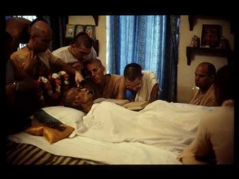 Prabhupada lying in bed (poison)